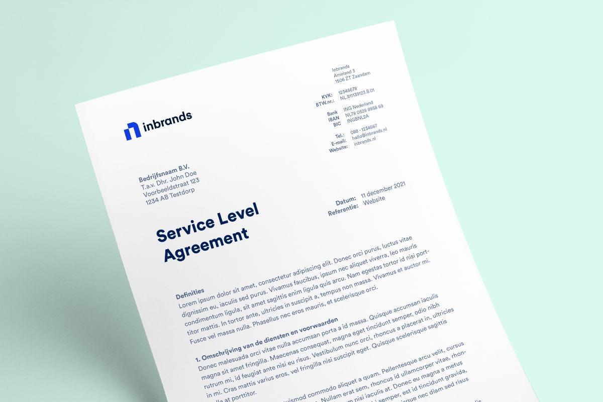 Service Level Agreement Van Inbrands - Full-service Marketingbureau In Zaandam